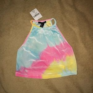 Forever 21 tie dye cropped tank top